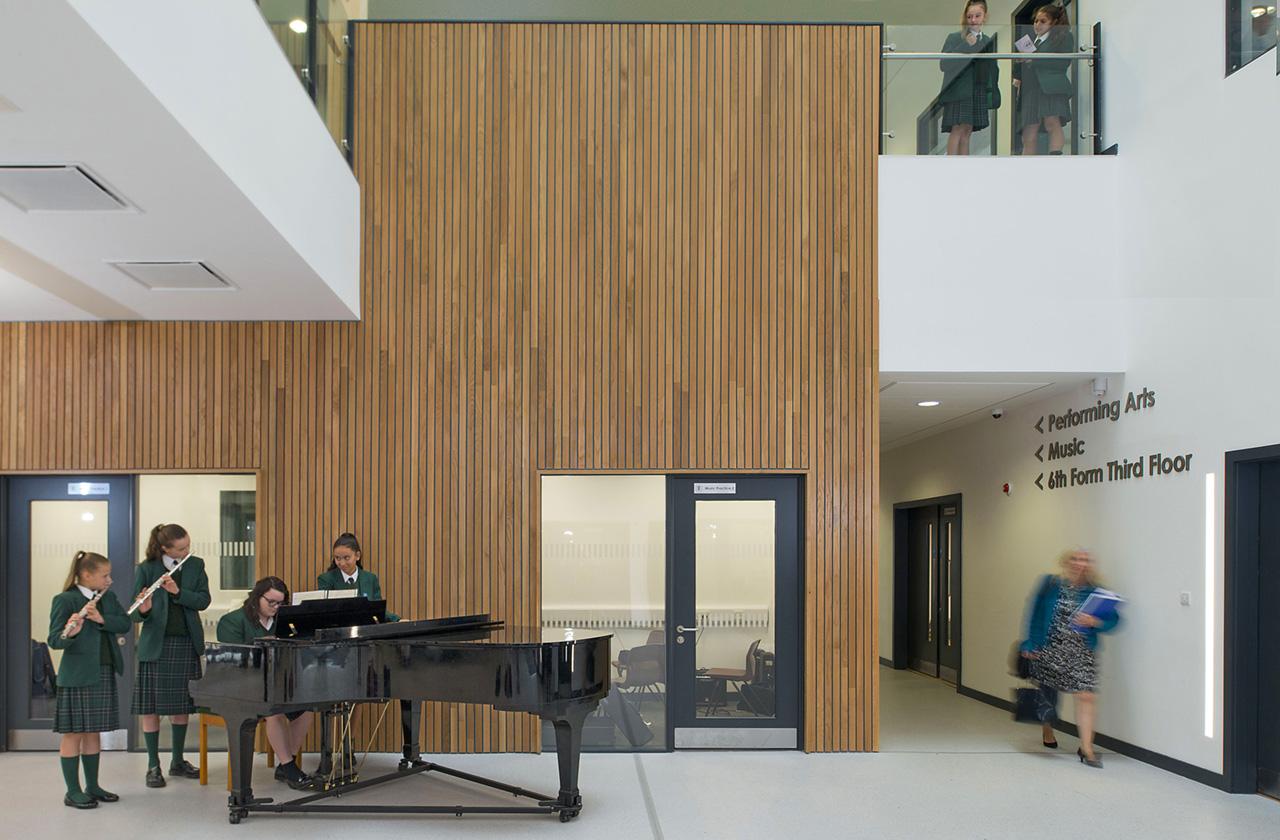 Bella Rive School, Liverpool, school building photography by Positive Image