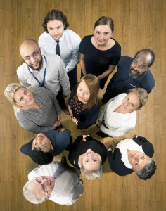 Staff group for company Diversity Leaflet