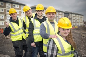Trainees and Apprentices on construction site