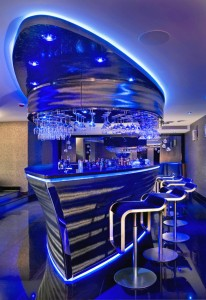 Boat Shaped Bar in Private House
