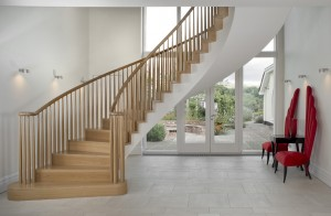 Spiral stair in private house in Cheshire