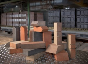 Specialist bricks in a brick factory