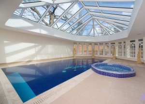 Pool extension at Private House in Cheshire