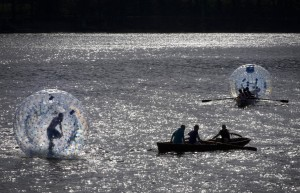 Aqua-Zorbing in Cumbria