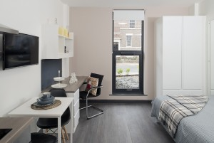 Studio room in student accommodation